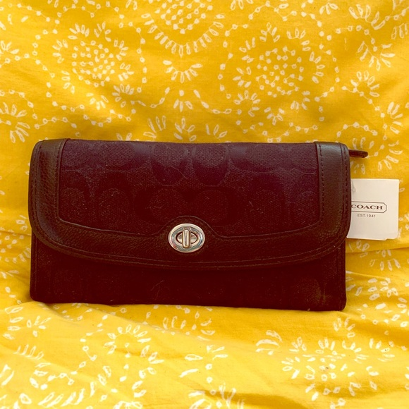 Coach Handbags - Black Coach Wallet Brand New with Tags